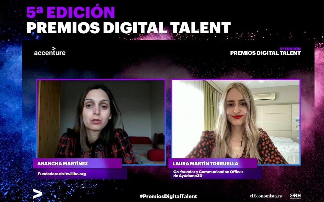 Ayúdame3D premiada en la 5º edición de los Premios 'Digital Talent' de Accenture y 'elEconomista'
