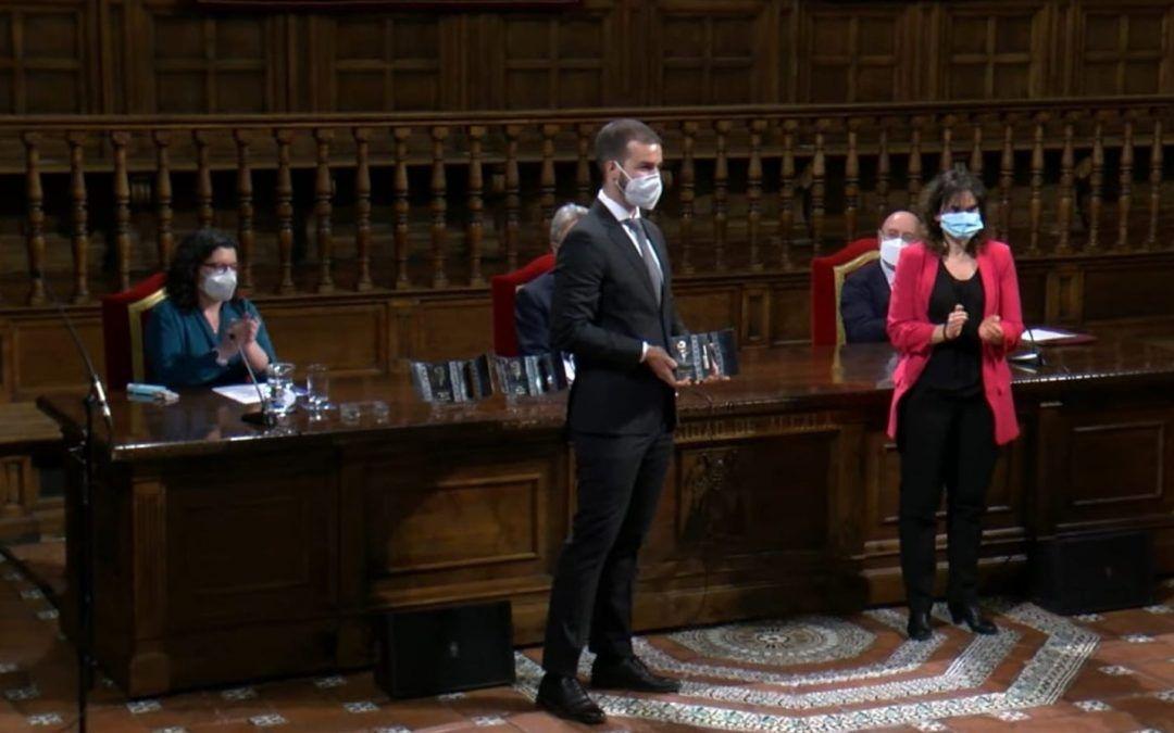 Guillermo M. Gauna-Vivas, director de Ayúdame3D, premiado por la Fundación Rodolfo Benito Samaniego por su aportación a los valores de convivencia