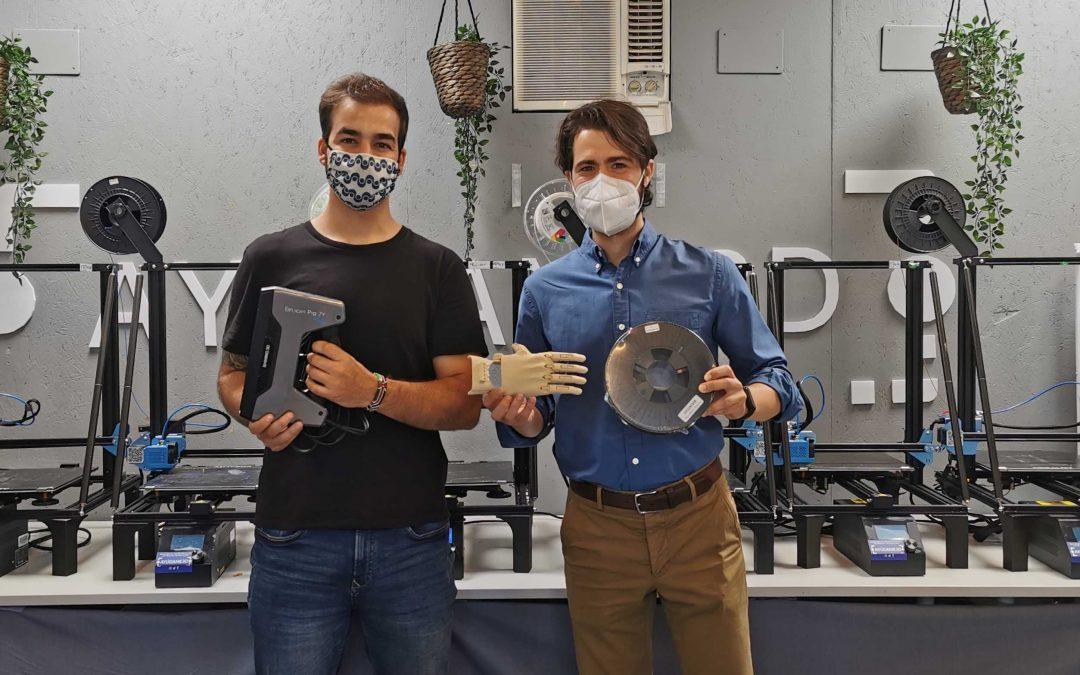 Ayúdame3D une fuerzas con Sicnova para la producción de prótesis mediante fabricación aditiva